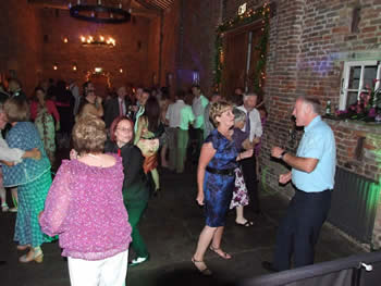 Guests dancing at  Meols hall