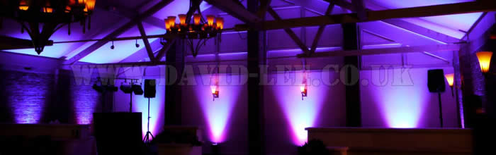 Bartle Hall Purple Lighting