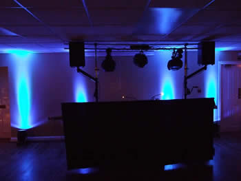 Blue venue lighting