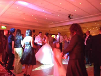 Marriott Hotel Worsley, bride and grooms first dance