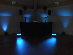 Wedding DJ, Oldham, Minimal with venue mood lighting
