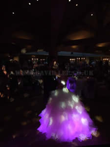 bride and grooms first dance at the white hart lancashire