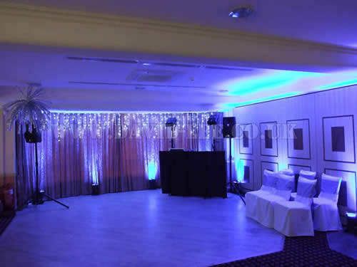 Winter Wonderland at Dukinfield Golf Club with a wedding DJ and venue up lighting