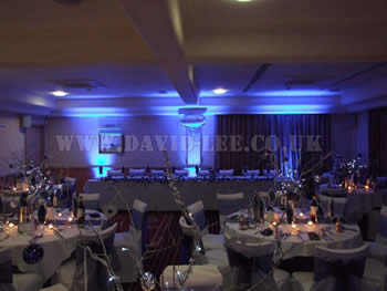head table lighting for a wedding at Dukinfield Golf Club