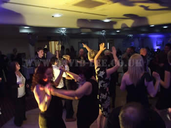 Wedding guests dancing at Dukinfield Golf Club