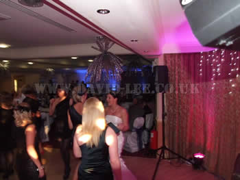 Bride dancing with party guests at Dukinfield Golf Club