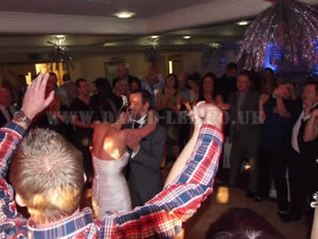 Bride and groom dancing at Dukinfield Golf Club