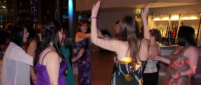 guests haveing fun on th edancefloor at the lowry
