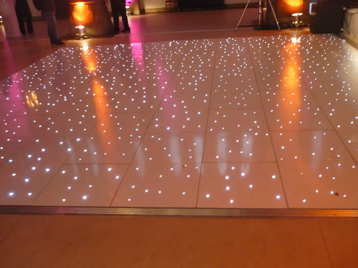 White led starlit dance floorhire manchester