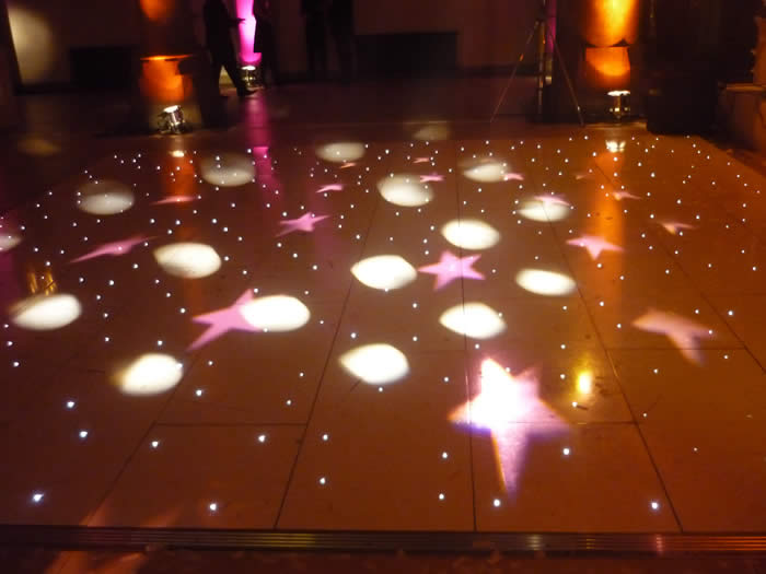White led dance floor showing disco lights in manchester