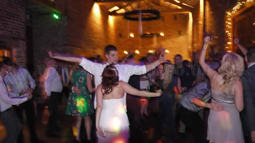 Meols Hall wedding DJ in the Tithe Barn