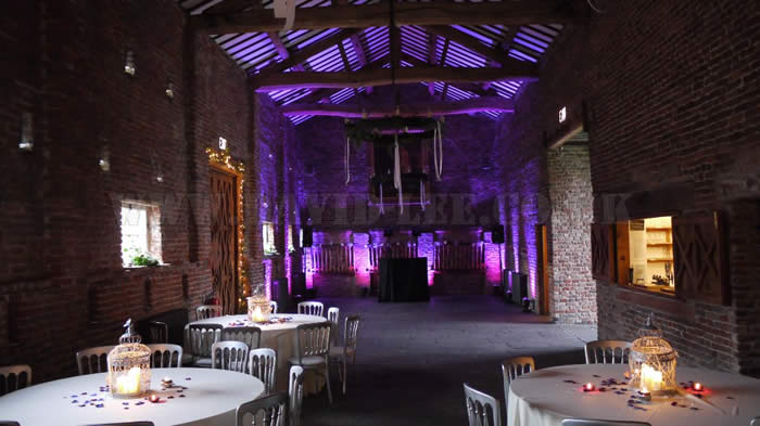 Wedding DJ set up at  Meols hall