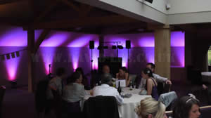oak room at the white hart, lydgate with the mini venue lighting option.