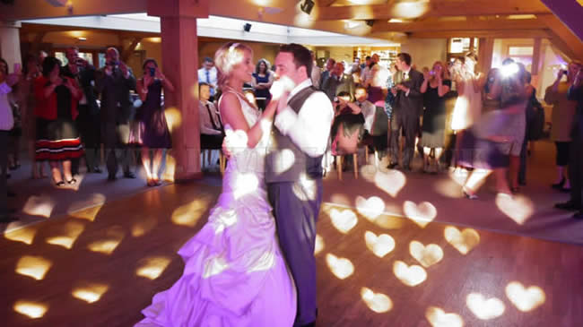 Bride and grooms first dance at white hart.