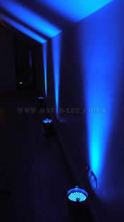up lighting the venue in blue at the white hart, saddleworth.