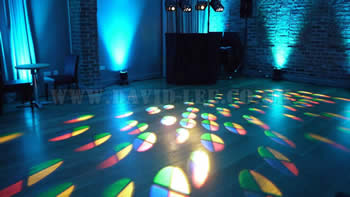 Arley Hall with wedding disco and up-lighting