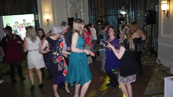 Wedding Guests dancing at the Midland Hotel Manchester