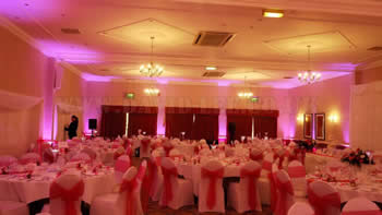 Uplighting at Preston Marriott wedding