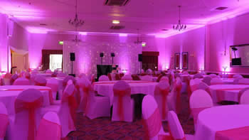 Lancashire Up-lighting in pink