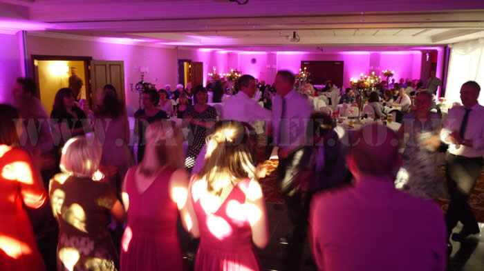 Wedding DJ and uplighting in Manchester