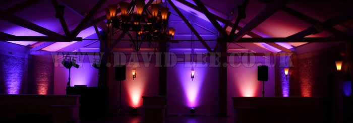 Uplighting and wedding disco for Lancashire
