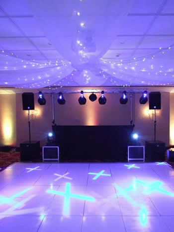 Marriott Hotel Worsley, bigger set-up lighting and sound, again as requested
