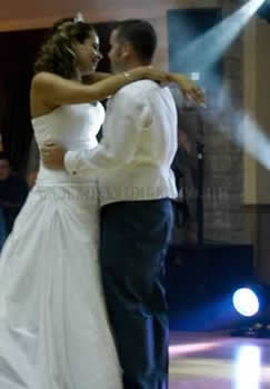 Chehire Wedding dj and disco with first dance for the bride and groom