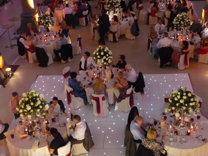 White starlite Led dance floor