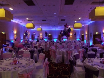 blue venue lighting at The Park Royal hotel, Cheshire