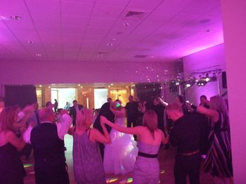 Chill Factor Trafford, manchester, bride & groom first dance with the pink venue lighting
