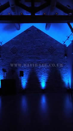 Arley Hall  blue lighting