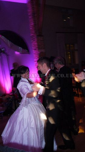 Arley Hall bride and groom dancing their dance